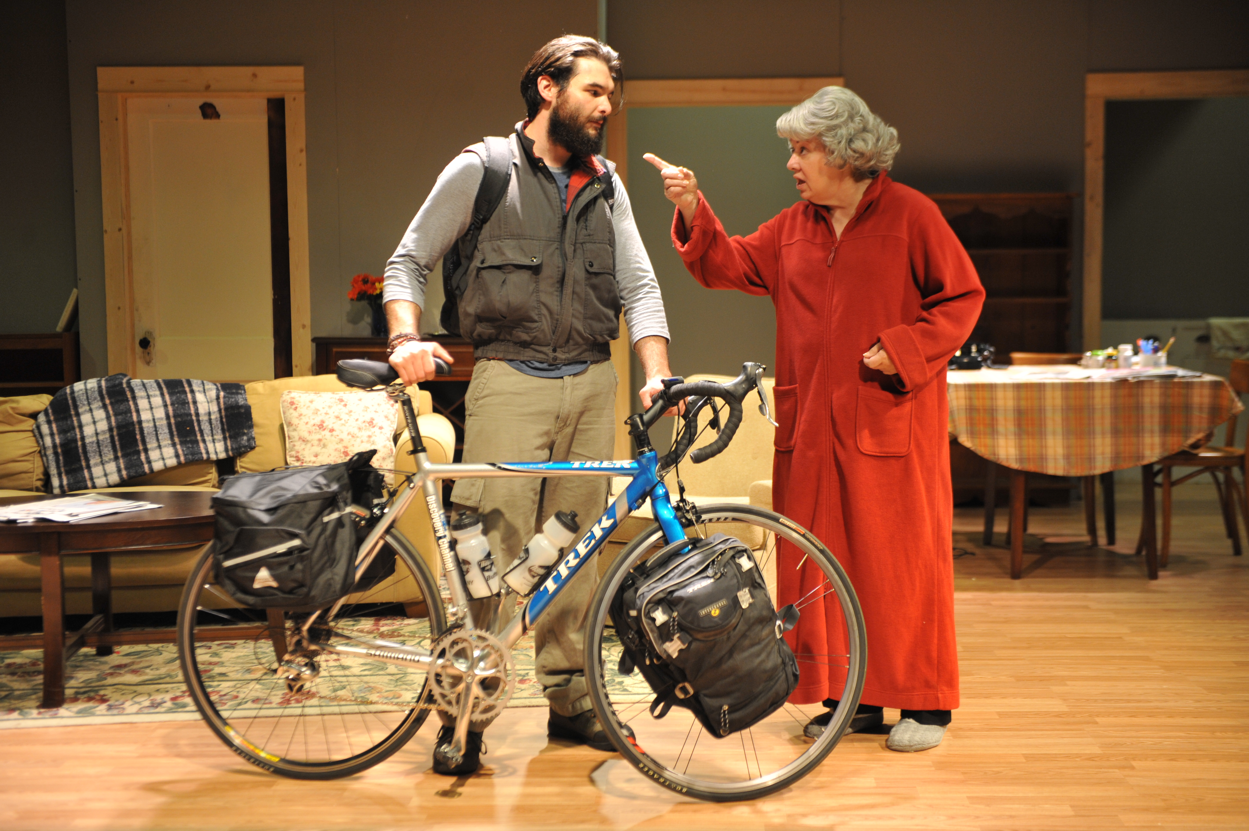 "Nick Stevens and Ellen Horst star in Jewish Repertory Theatre's production of ""4,000 Miles."""