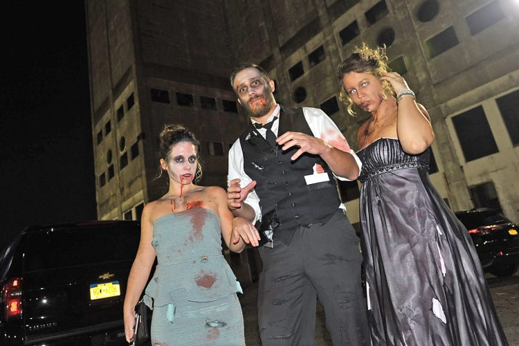 Smiles at the Zombie Prom at Buffalo RiverWorks
