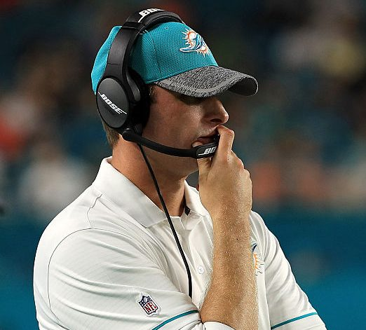 Miami Dolphins coach Adam Gase said Tyrod Taylor 'has a really good feel in the pocket.' (Getty Images)