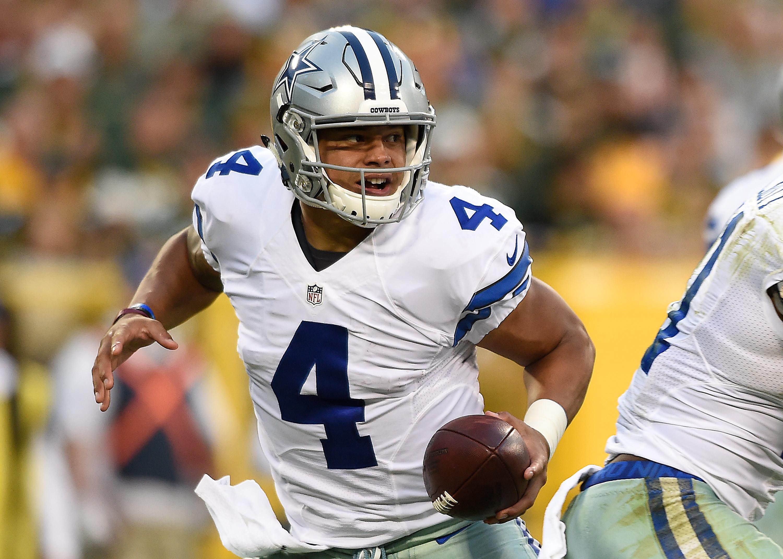 Rookie quarterbacks lock up when Dak Prescott and the Dallas Cowboys face Carson Wentz and the Philadelphia Eagles. (Getty Images)