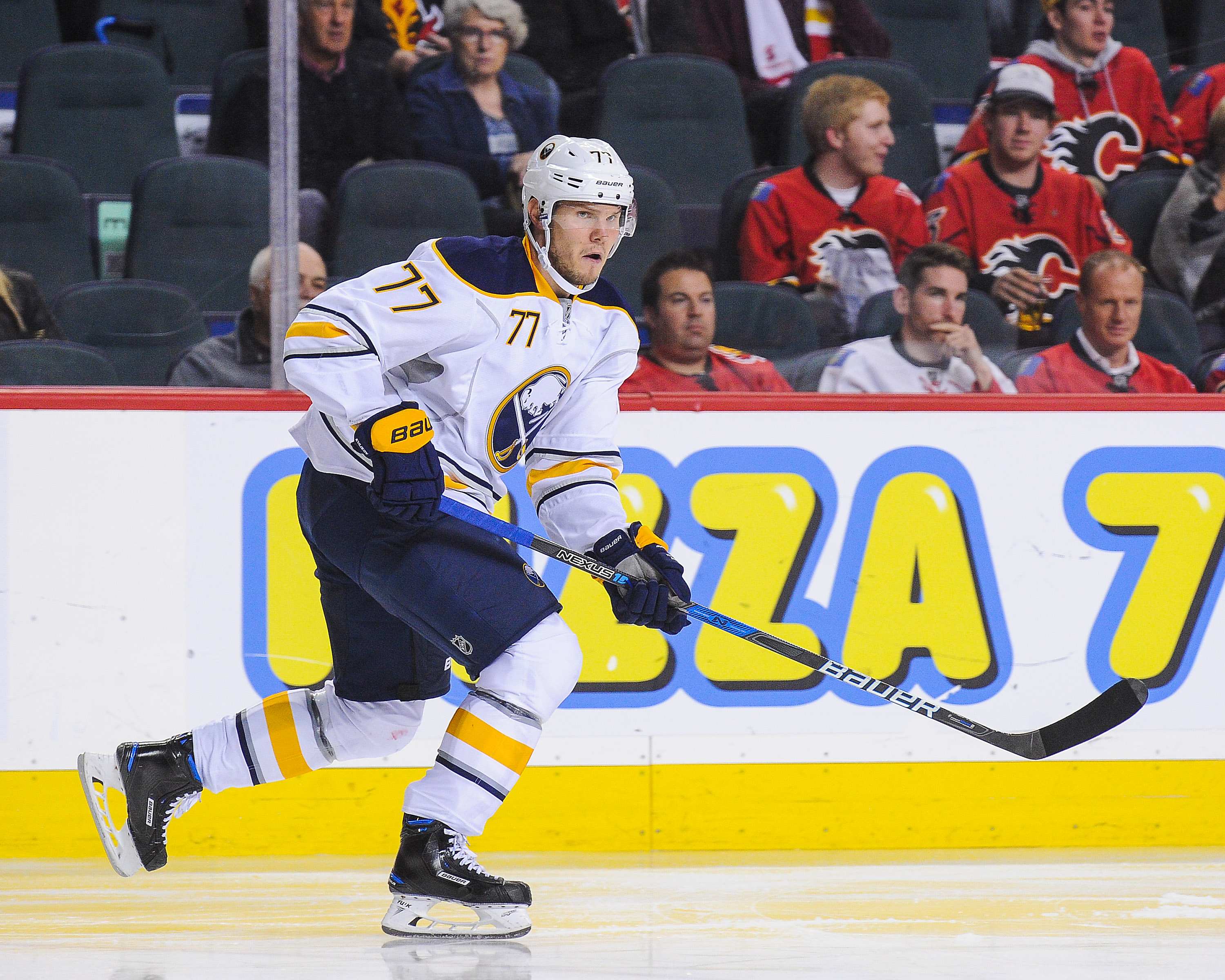 Dmitry Kulikov sees a well-rounded defense corps in Buffalo. (Photo by Derek Leung/Getty Images)