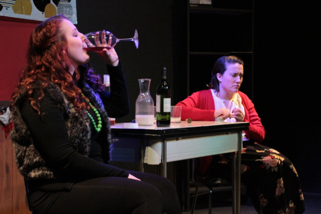 Sue McCormack and Mara Westerling-Morris star in 'How to Make Friends and Then Kill Them.' (Photo credit: Sarah Mcllhatten)