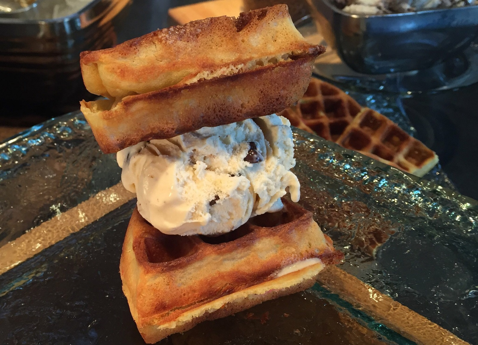 Perry's Ice Cream waffle sandwich is a nice item for general concessions at Sabres games. (Aaron Besecker/Buffalo News)