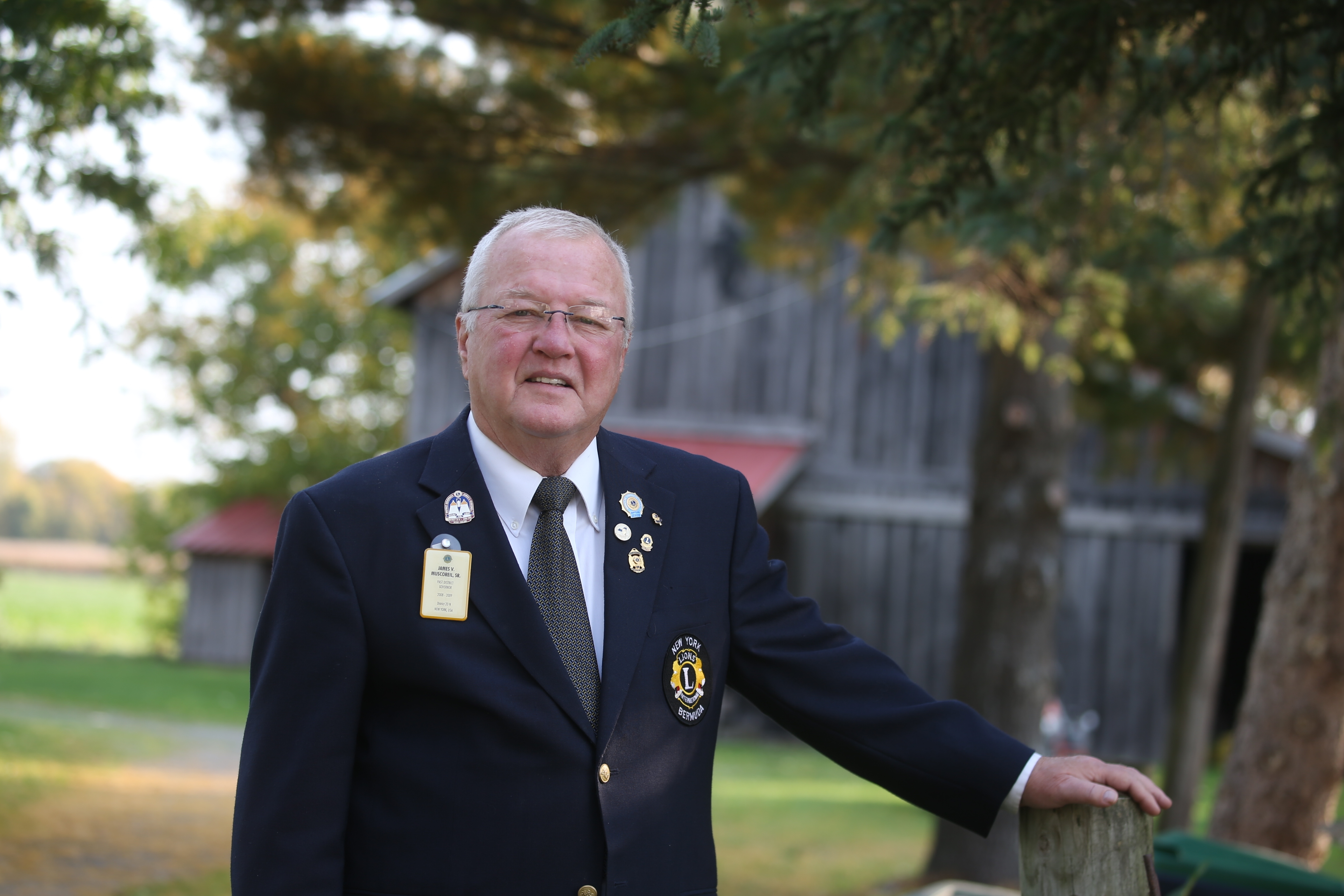 Jim Muscoreil, a retired Wilson resident, is a Lions Clubs International governor. (John Hickey/Buffalo News)