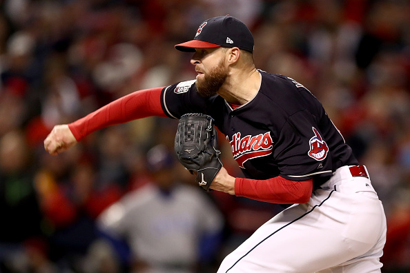 Indians ace Corey Kluber won Game One, and is lined up to start Games Four and Seven (Getty Images).