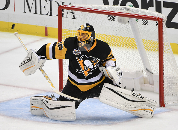 Marc-Andre Fleury's days in Pittsburgh could be numbered now that Matt Murray has signed an extension (Getty images).