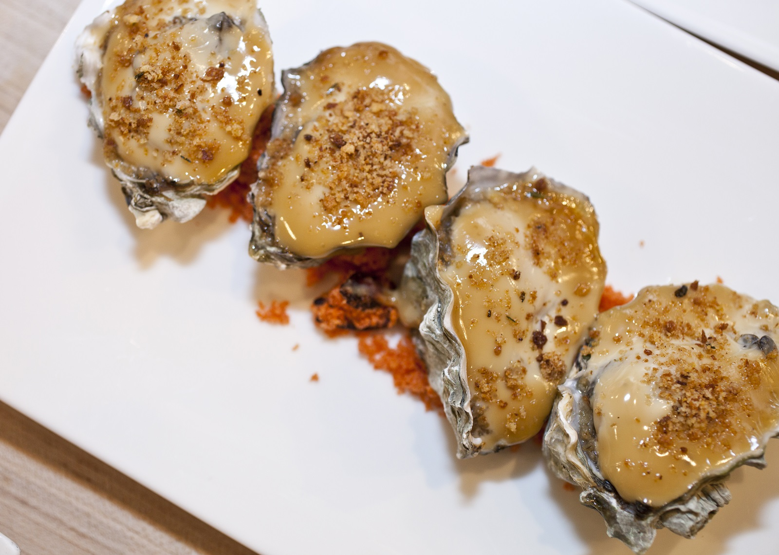 Marmite baked oysters by Chef Steve Gedra at the James Beard House. (Rina Oh/James Beard House)