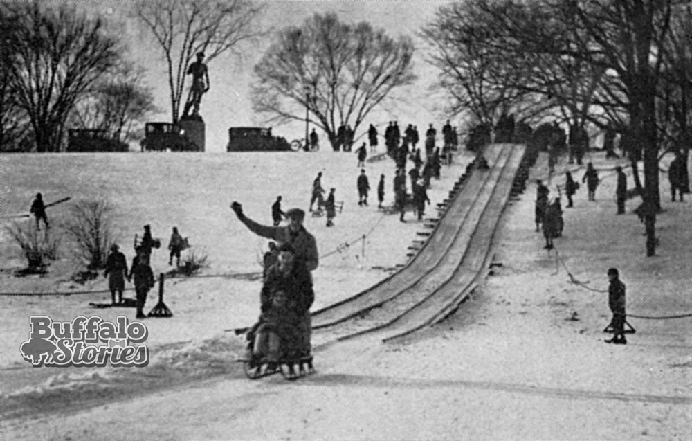 Delaware Park toboggan run, late 20s/early 30s. Buffalo Stories archives