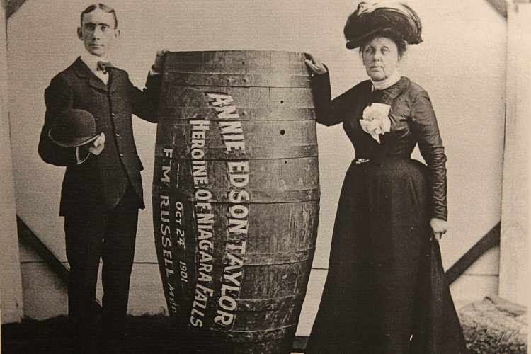 Annie Edson Taylor makes history 115 years ago by going over the falls in a barrel