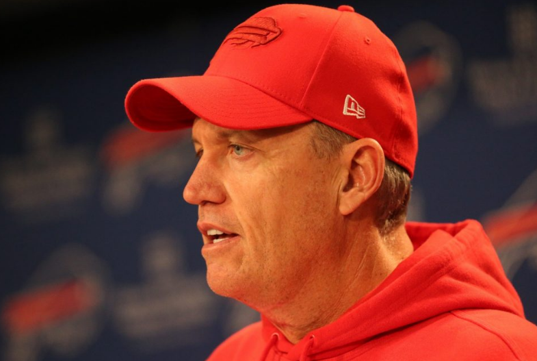 Rex Ryan addressed reporters in Orchard Park. (James P. McCoy/Buffalo News)