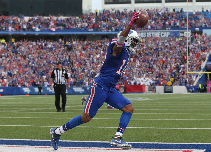 Bills WR Robert Woods said X-rays on his foot were negative (James P. McCoy/Buffalo News)