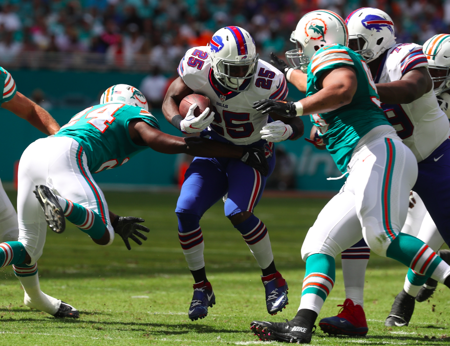 Splash moves, such as picking up running back LeSean McCoy, a thing of the past in Bills' new approach. (James P. McCoy/Buffalo News)