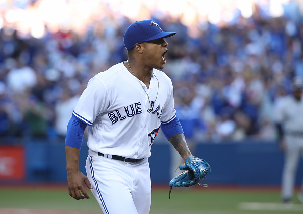 Marcus Stroman will start for the Blue Jays tonight in Rogers Centre against Baltimore in the AL Wild Card Game (Getty Images).