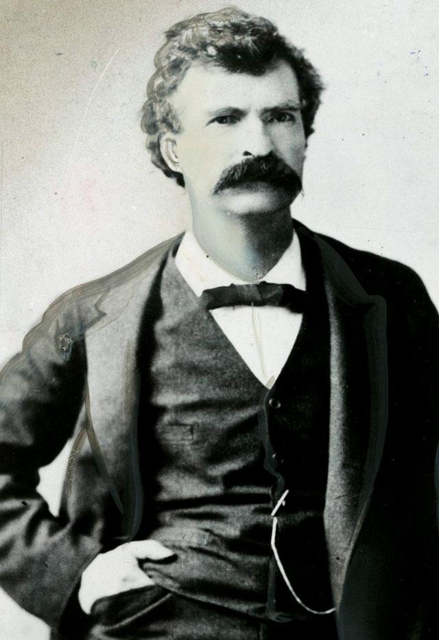 Mark Twain, 1880s photo. Buffalo News archives