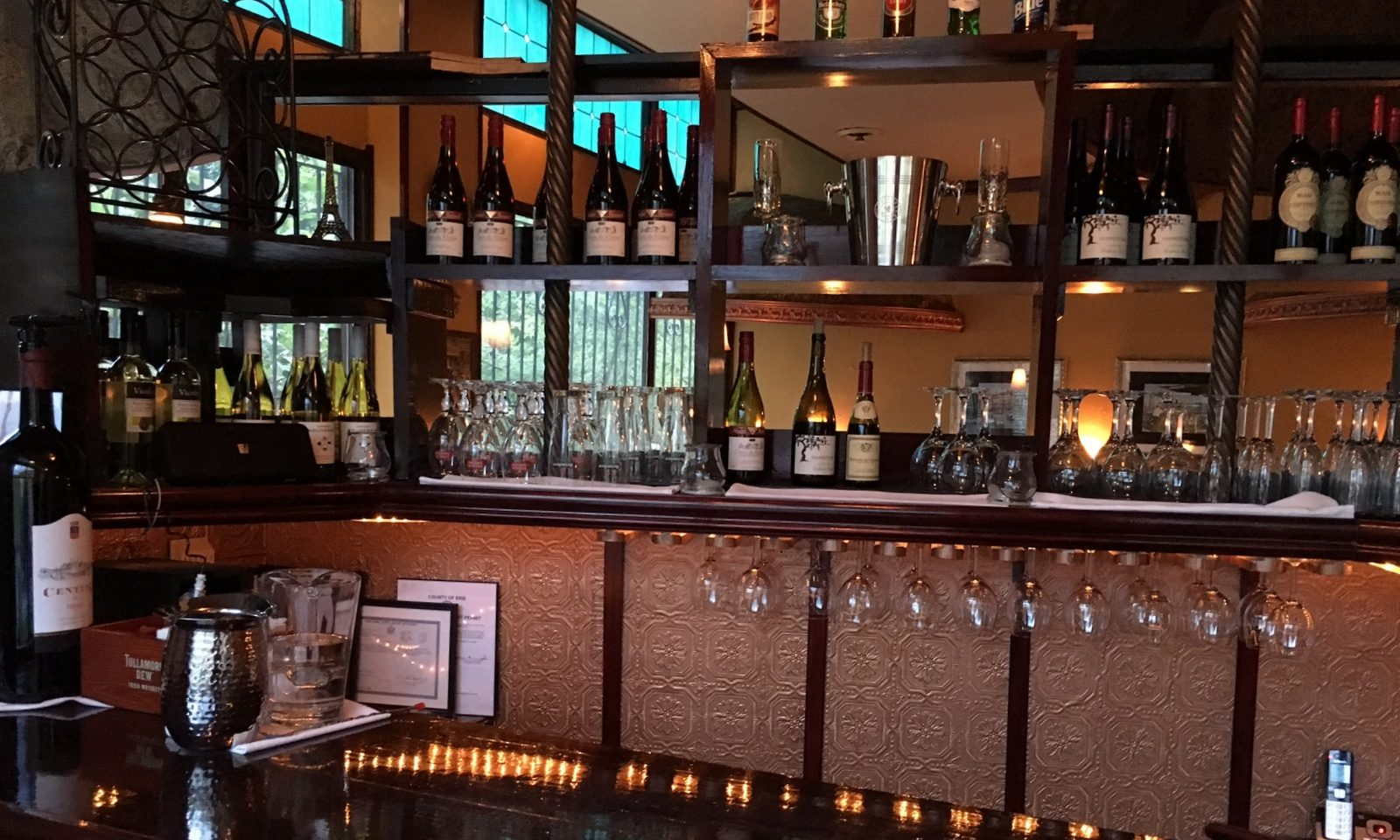 Bellini Bistro, open in the space that was formerly Prospero's and Coda, has a license for beer and wine. (Photo: Bellini's Bistro)
