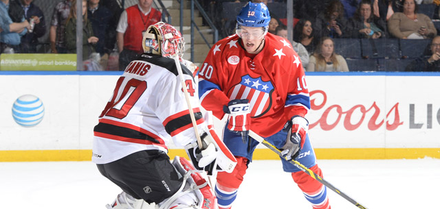 Cole Schneider has eight points for the Amerks. (Rochester Americans photo)