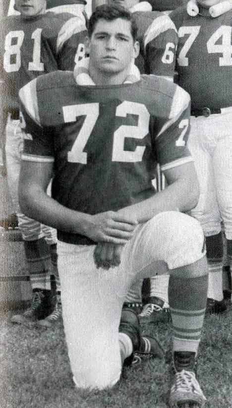 Joe Ehrmann as a teenager on the Riverside High School football team, Buffalo. (Photo courtesy Coach for America, Maryland)