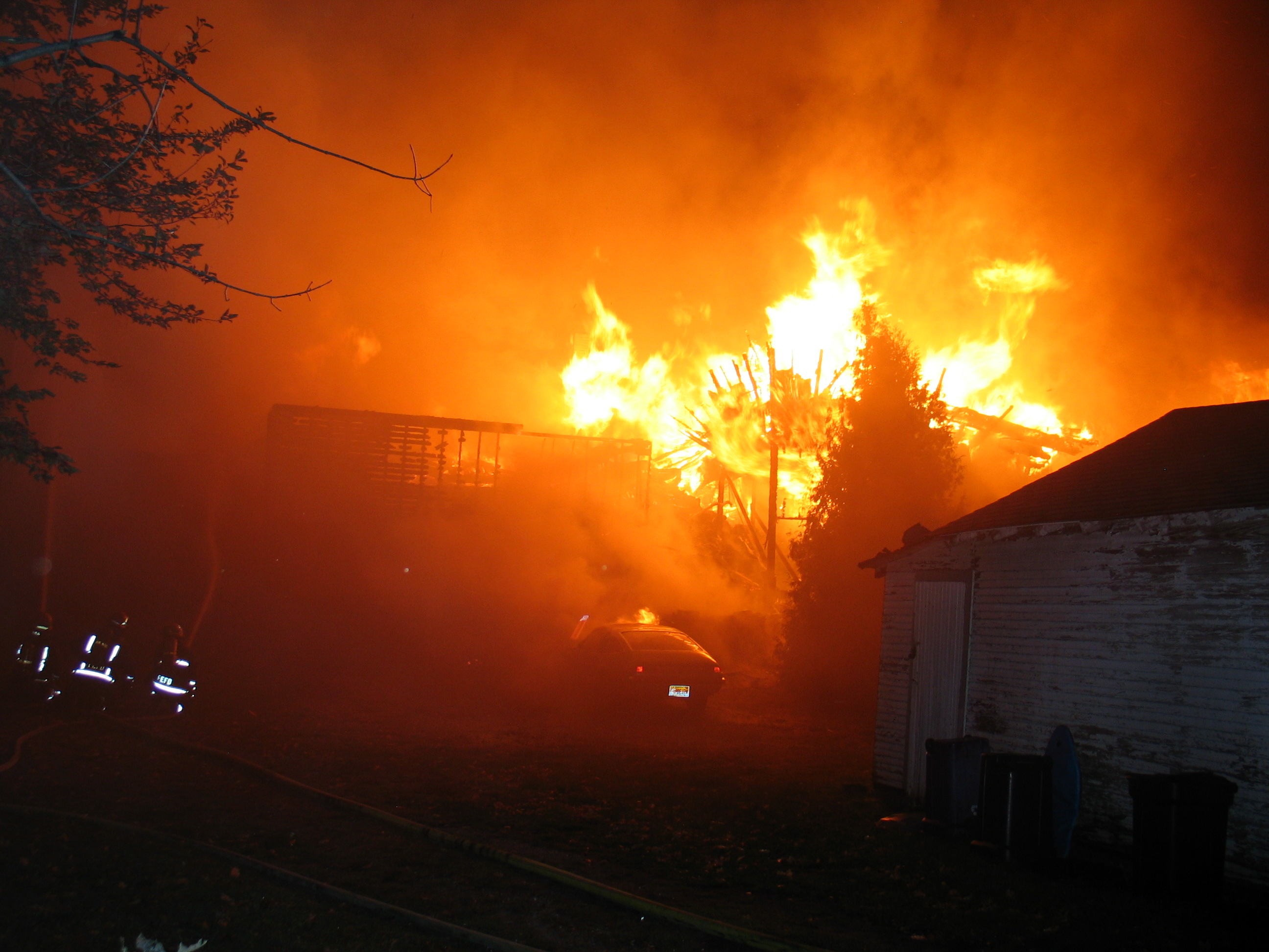 An early-morning fire caused more than $2 million in damage to some lakefront cottages. (Harry Rosettani/contributed photo)