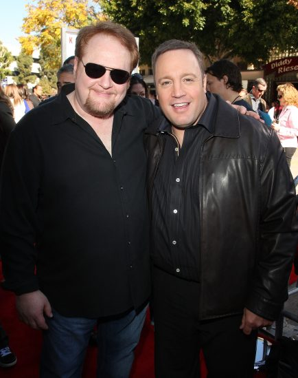 "Writer Nick Bakay and actor Kevin James arrive at the premiere of Columbia Pictures' ""Paul Blart: Mall Cop"" on Jan. 10, 2009 (Getty Images)"