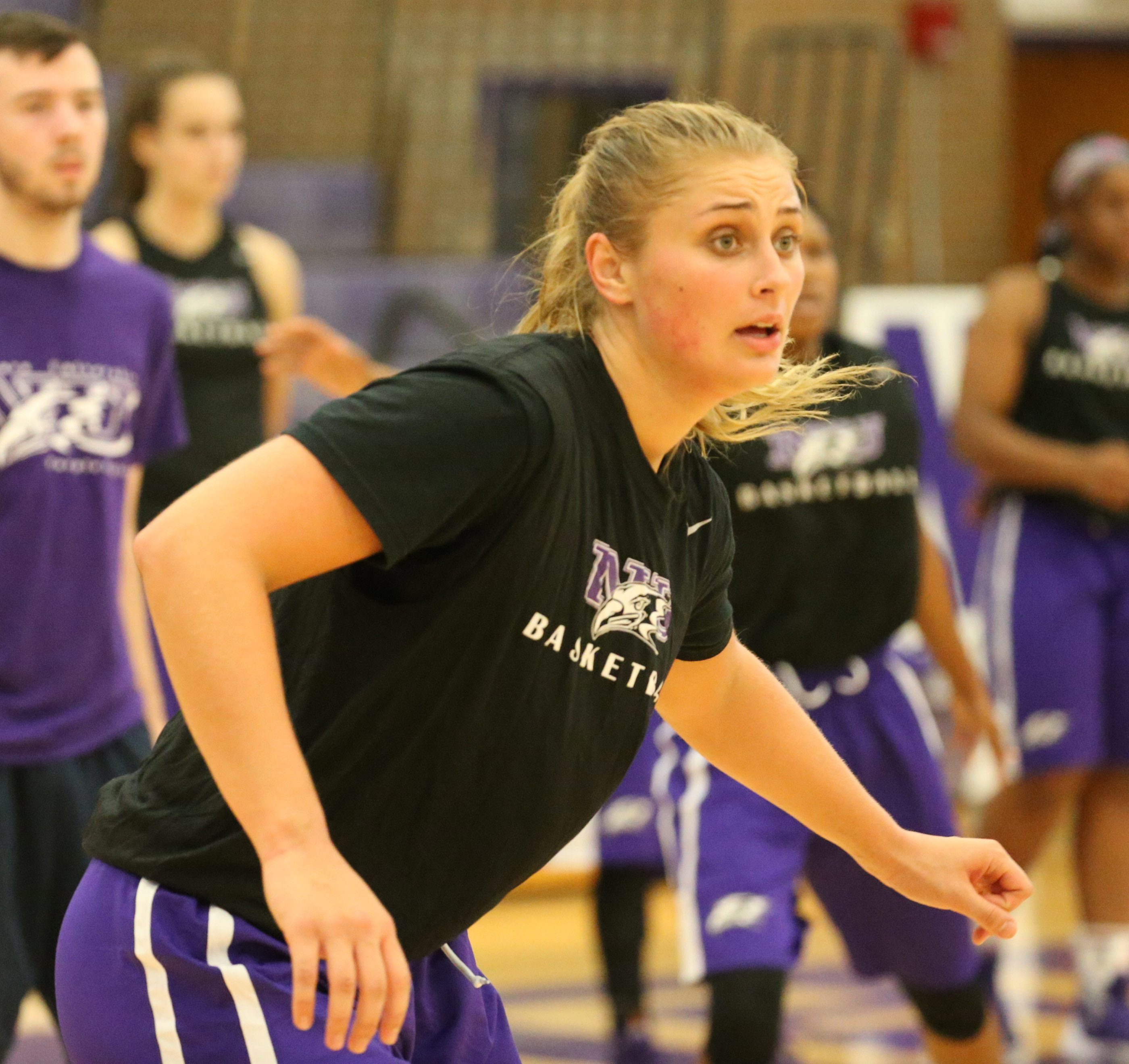 A healthy Victoria Rampado is one of many pieces that should help to bolster the Purple Eagles.  (James P. McCoy/Buffalo News)