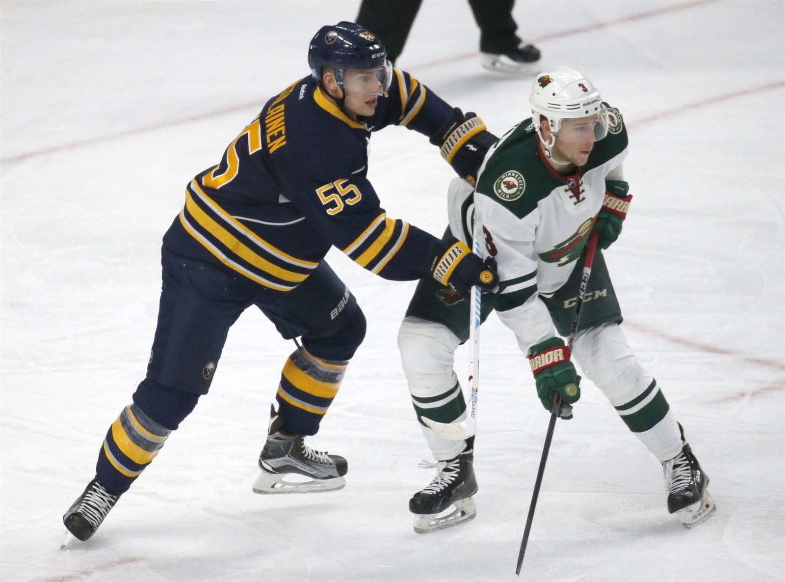 Rasmus Ristolainen and the Sabres have just one goal in two home games so far this season. (Robert Kirkham/Buffalo News)