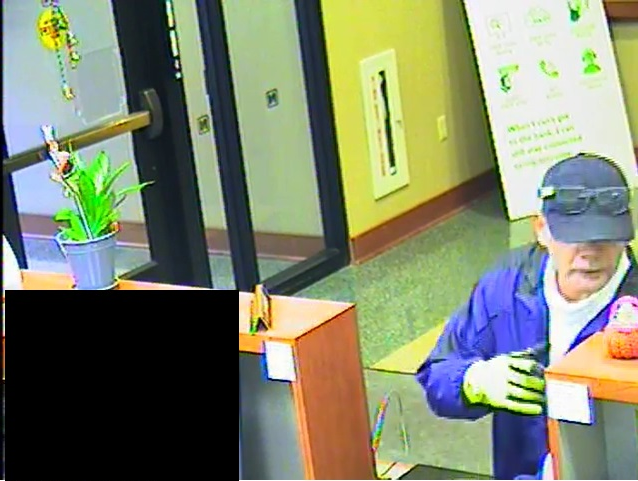 Surveillance image of man suspected of robbing bank in downtown Buffalo Friday afternoon. (Buffalo Police Department)