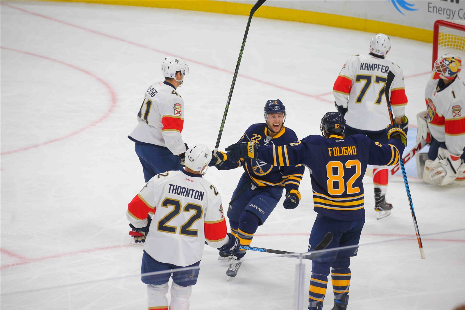 Johan Larsson allowed the Sabres to finally take a lead into the first intermission. (John Hickey/Buffalo News)