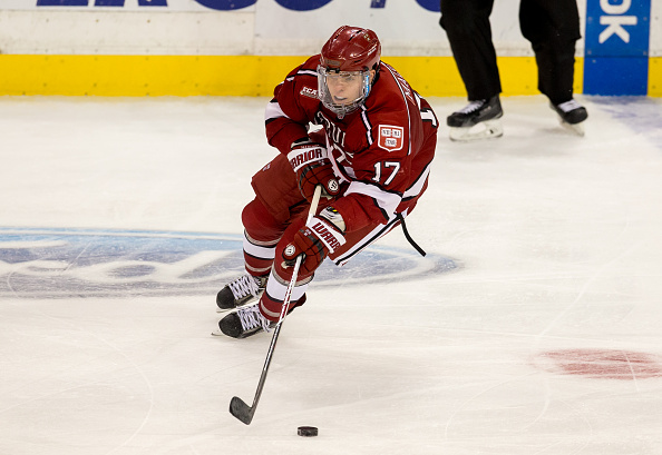 Sean Malone had a career-high four points in a win over Yale in the ECAC quarterfinals. (Getty Images)