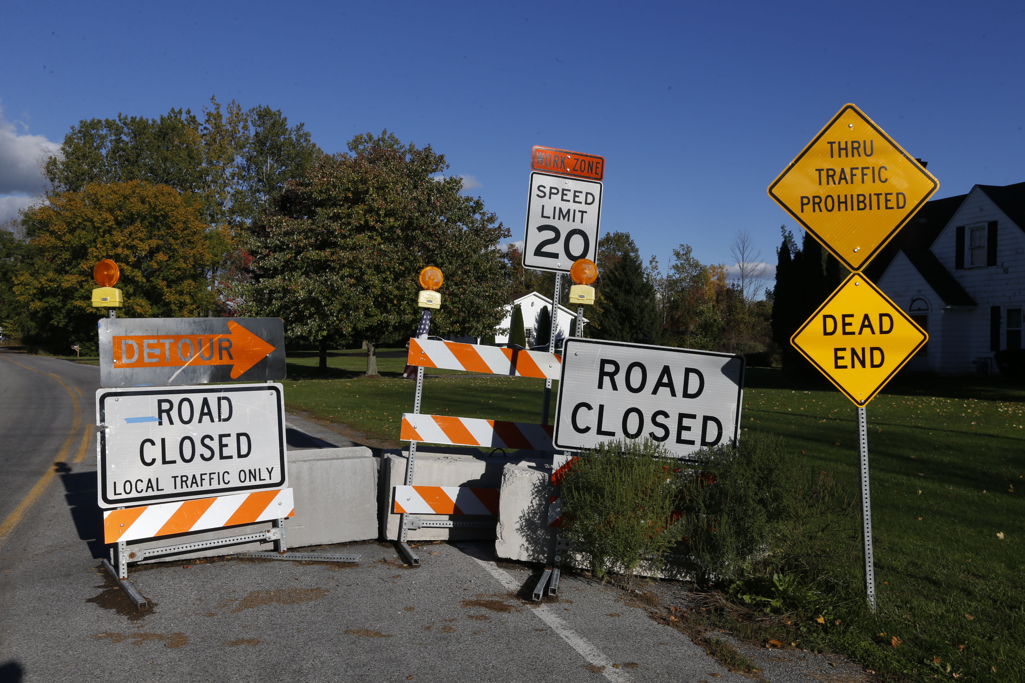 Tonawanda Creek Road in Clarence, N.Y., just east of Westphalinger Road, on Thursday, Oct. 13, 2016.  (Robert Kirkham/Buffalo News)