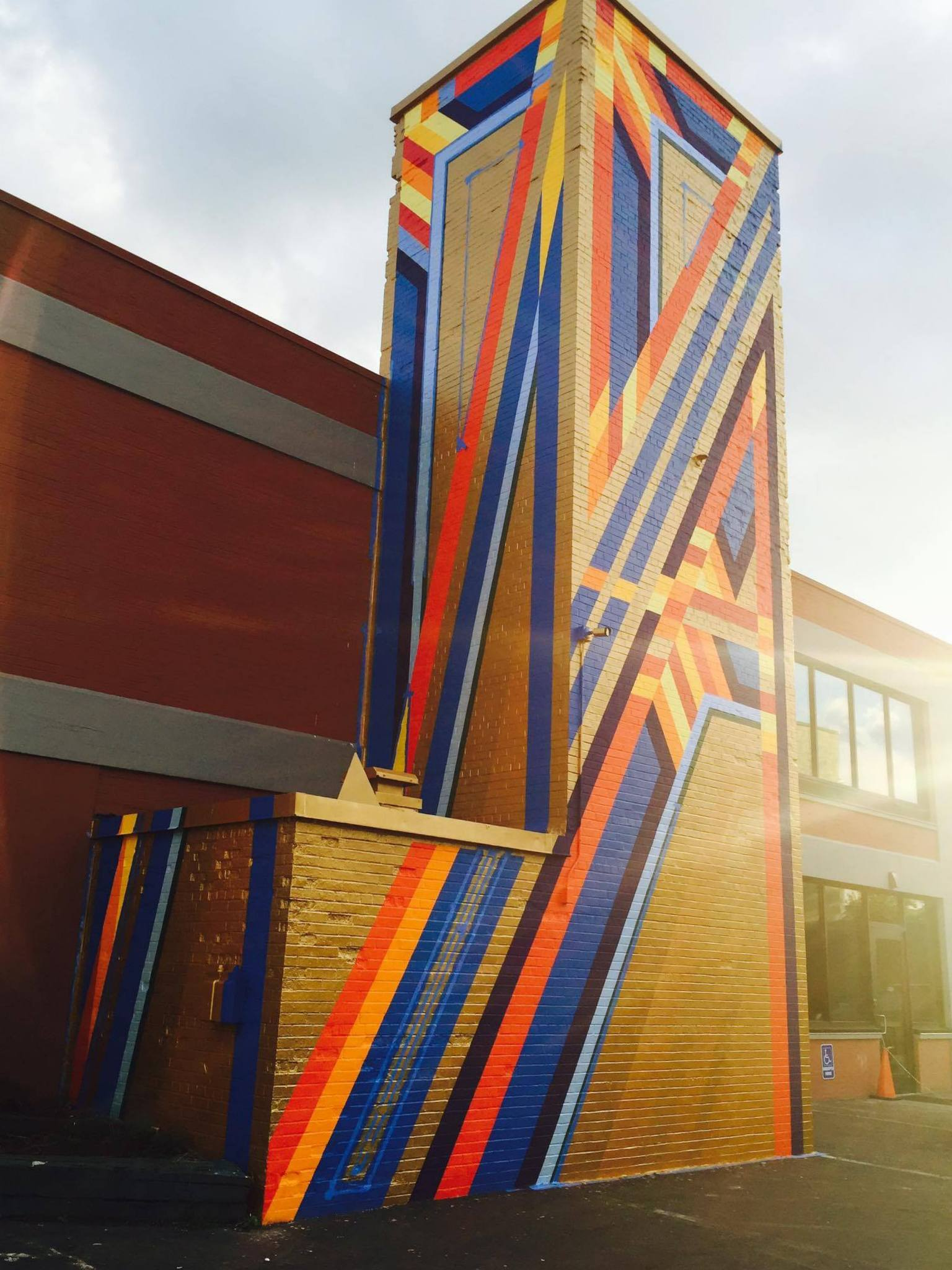 """Team Razor Wire's """"Tower of Power"""" is coated in reflective gold paint that glows in the early-morning and late-afternoon sun. Photo courtesy of Nicholas Conrad Miller."""