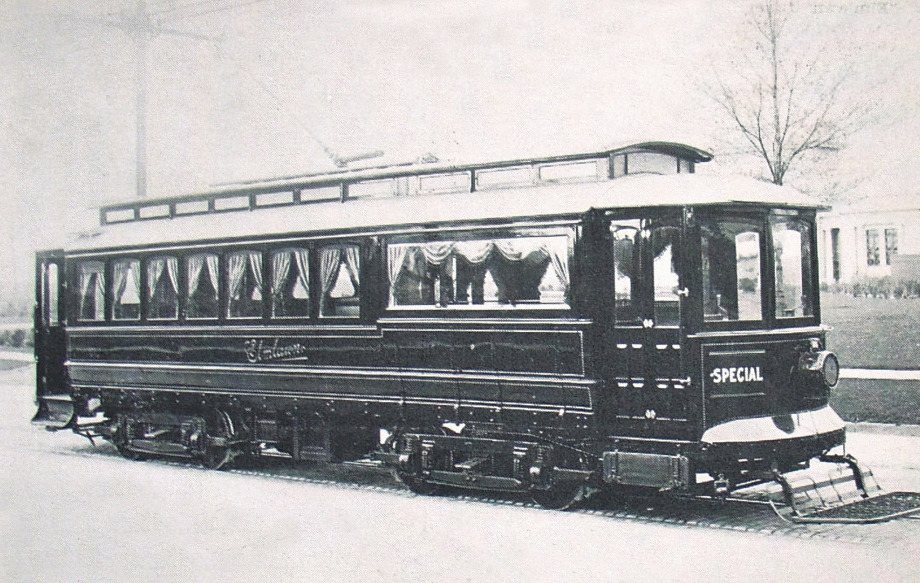 At that time, the area was still undeveloped and rural. Coffins and mourners were brought from the City of Buffalo along a dirt road – now known as Delaware Avenue – on a specially-made trolley car that was all-black with black curtains. The car had a special attachment in front to hold the coffins. Please insert this photo in fall fest story where I write about the trolley up Delaware Ave to the cemetery. Credit Tonawanda-Kenmore Historical Society.