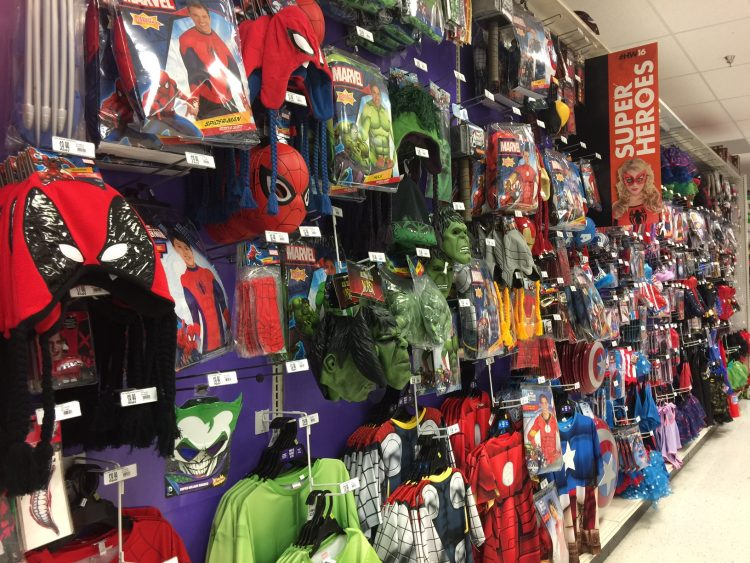 There are plenty of costumes to dress up your kid for Halloween.