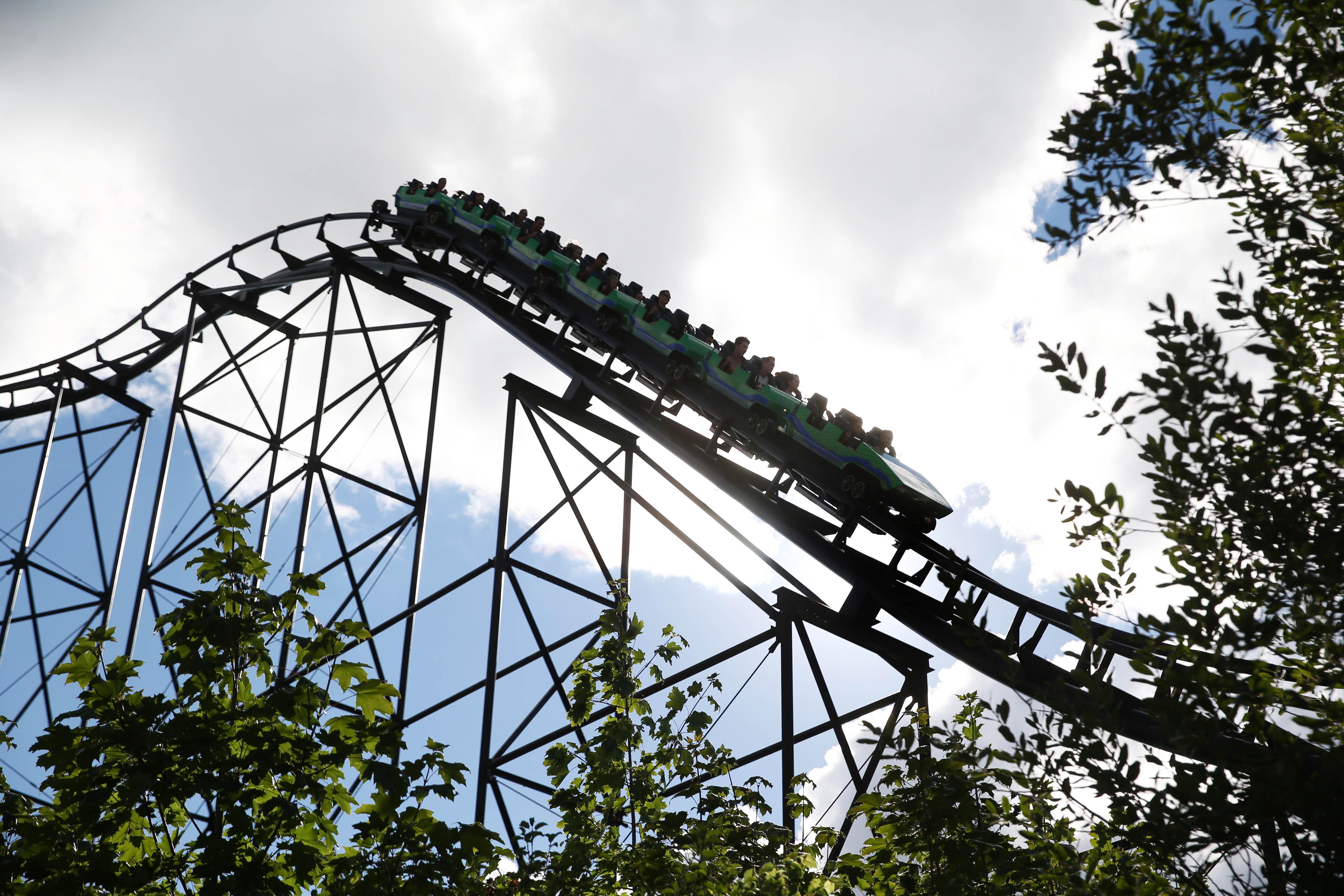 The Viper roller coaster is one of the signature rides at Darien Lake.  (Sharon Cantillon/Buffalo News)