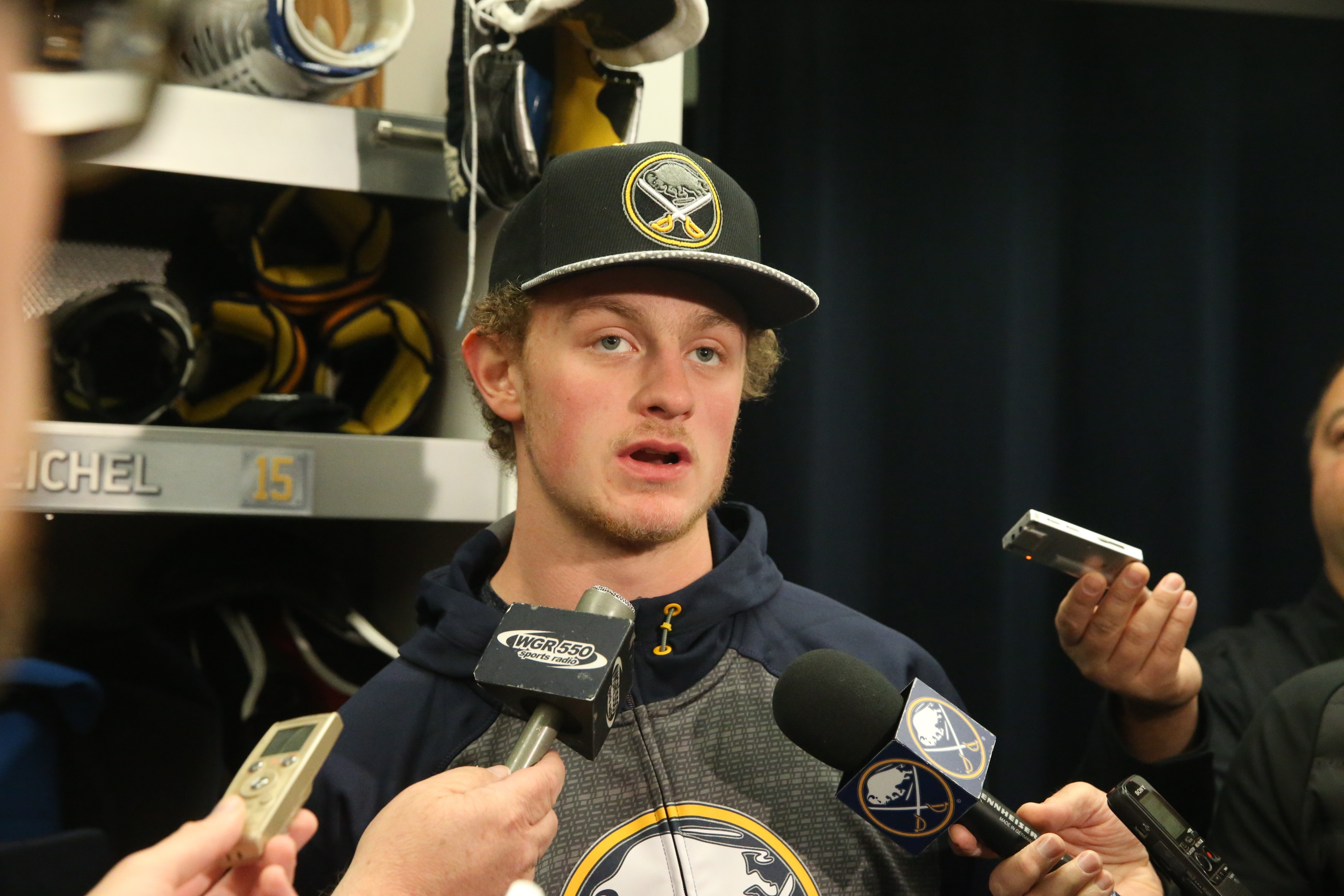 Jack Eichel will have contract talks with the Sabres when the time is right, his agent says. (John Hickey/Buffalo News)