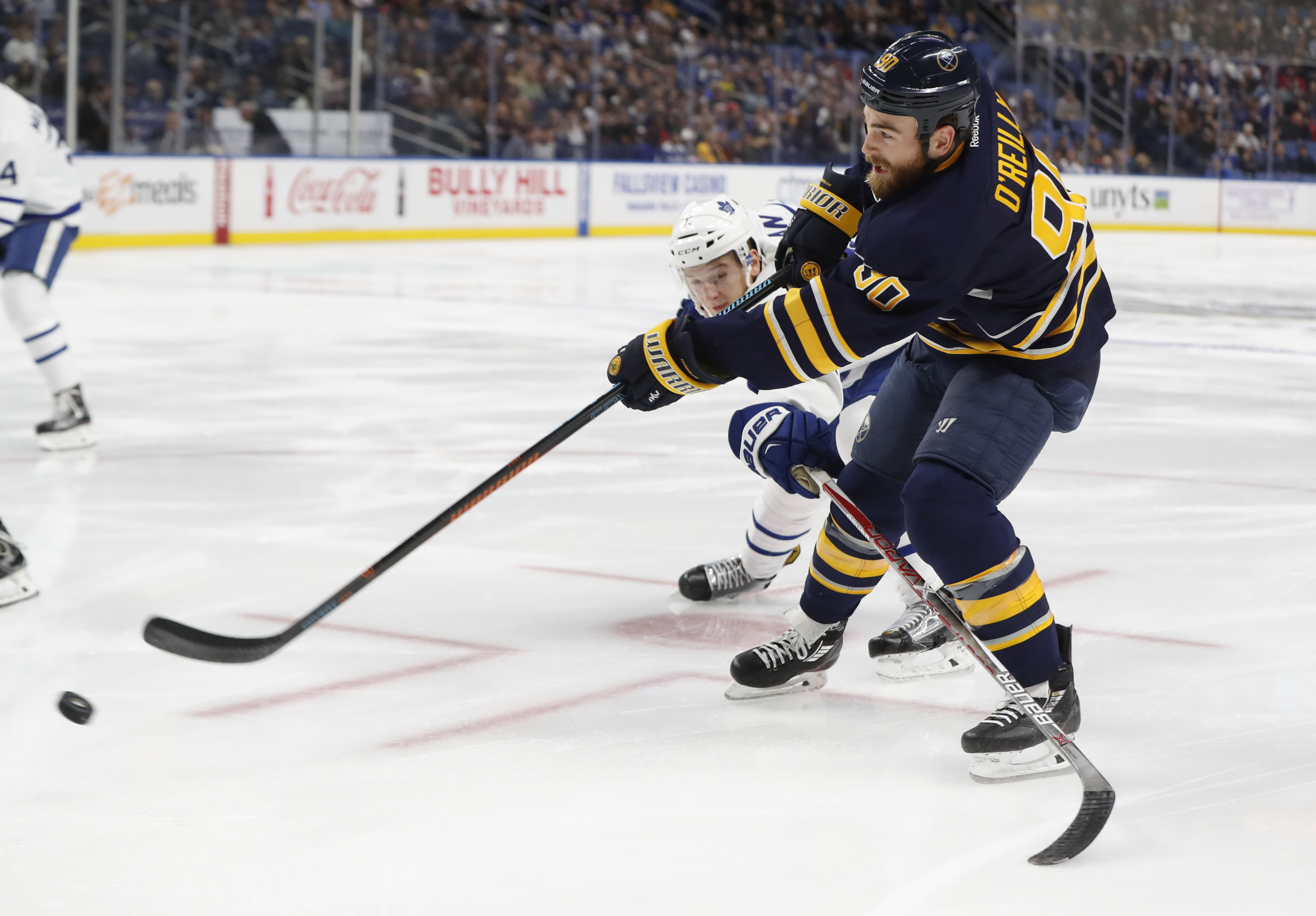 Ryan O'Reilly is likely to return to the Sabres lineup. (Harry Scull Jr./Buffalo News)