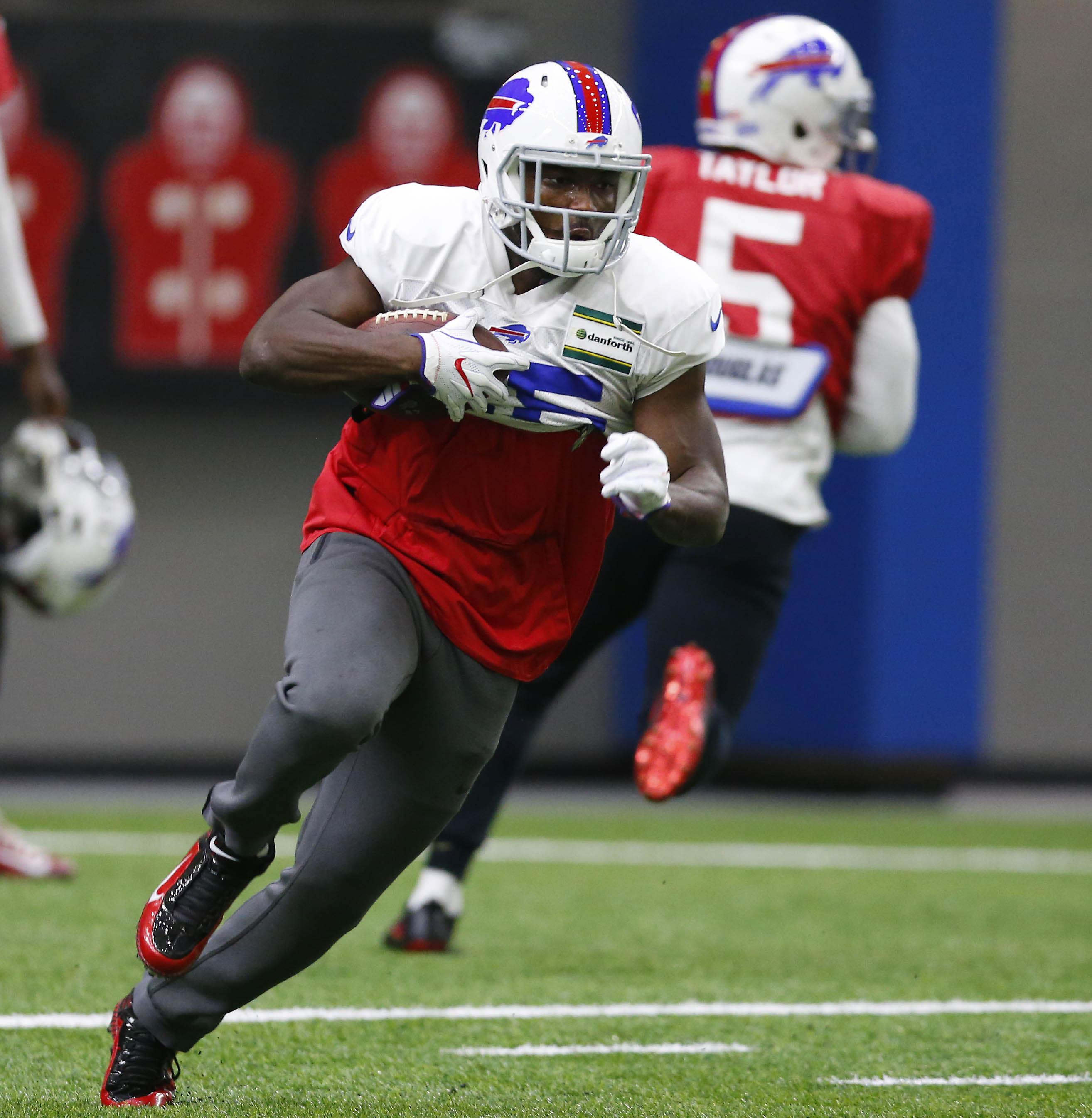 Buffalo Bills running back LeSean McCoy during offseason workouts. (Mark Mulville/Buffalo News)