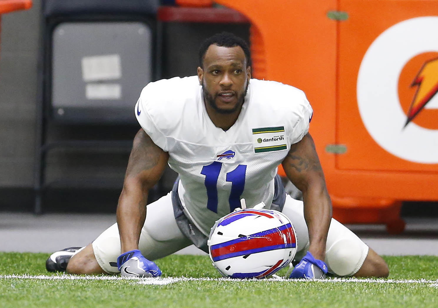 Percy Harvin's return to the Buffalo Bills lasted just two games in 2016.  (Mark Mulville/Buffalo News)