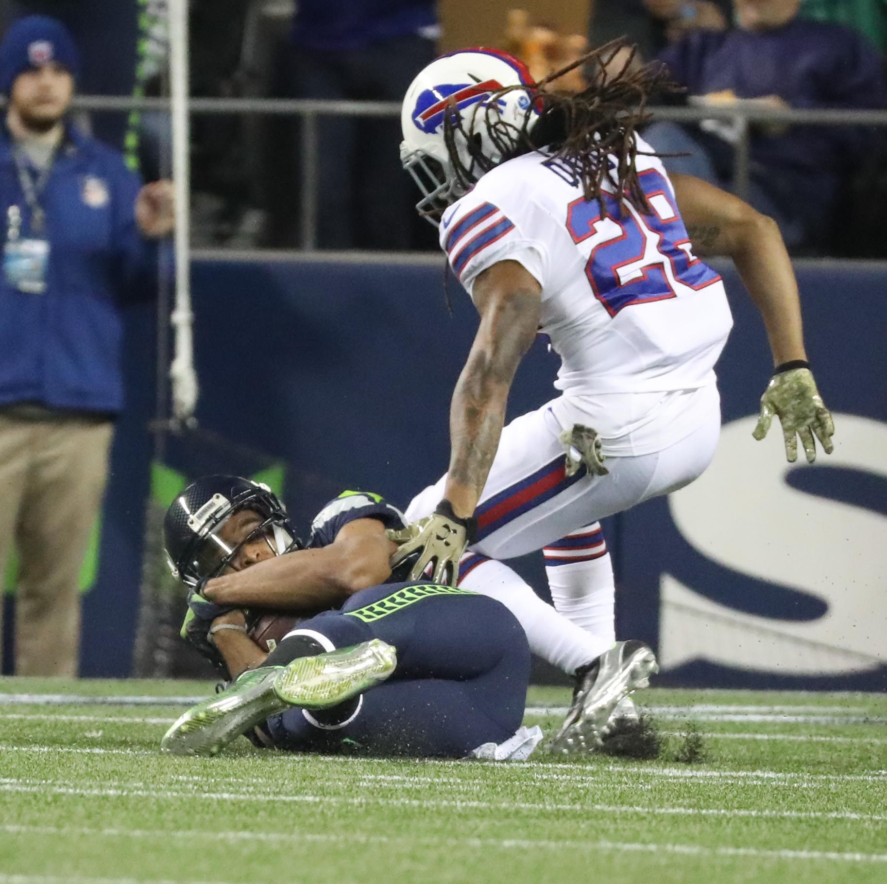 After a rough game against Seattle, Bills cornerback Ronald Darby faces competition from Corey White for his starting job. (James P. McCoy/Buffalo News)