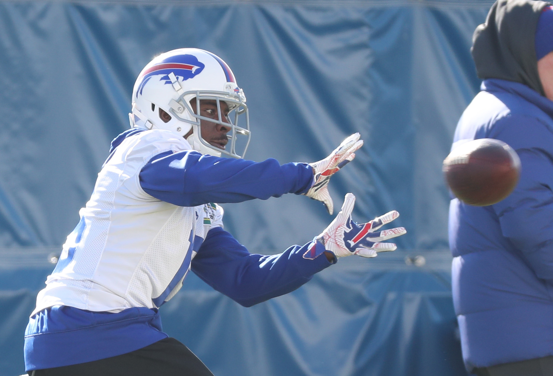 Buffalo Bills receiver Brandon Tate will face his former team Sunday in Cincinnati.  (James P. McCoy/Buffalo News)