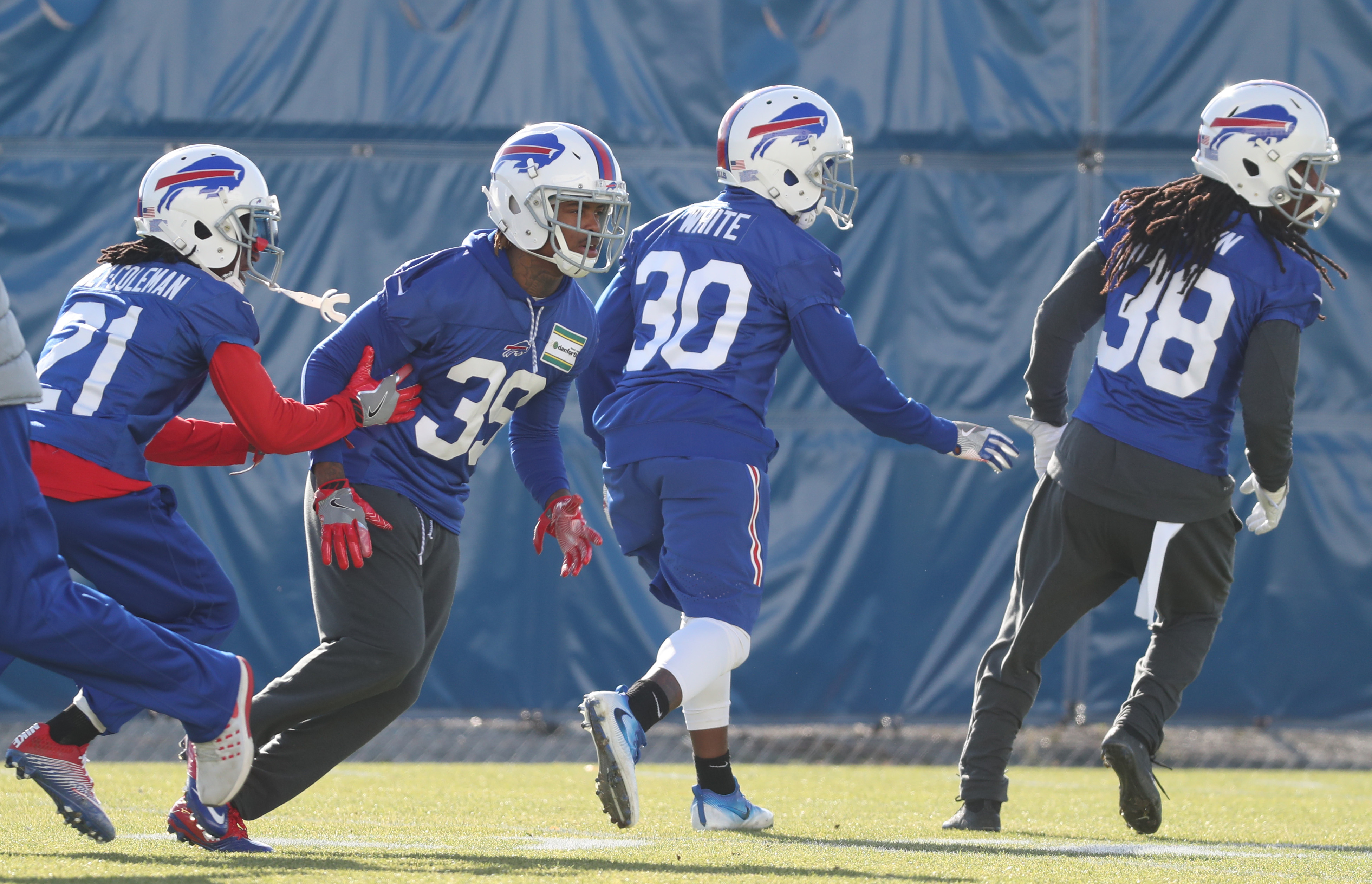 Buffalo Bills cornerback Corey White (30) could be just one of a few new starters in the lineup when his team takes on the Bengals in Week 11.  (James P. McCoy/Buffalo News)
