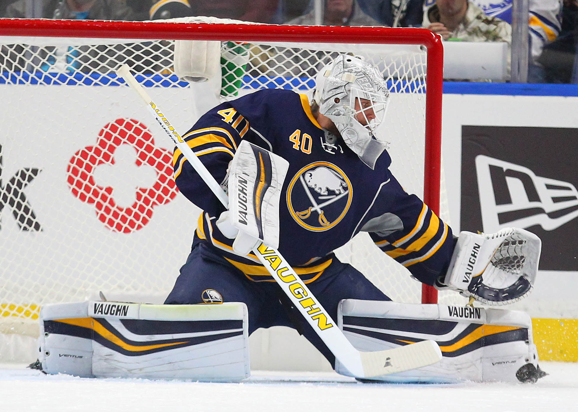 Robin Lehner could return to the Sabres' crease Saturday against Boston. (Mark Mulville/Buffalo News)