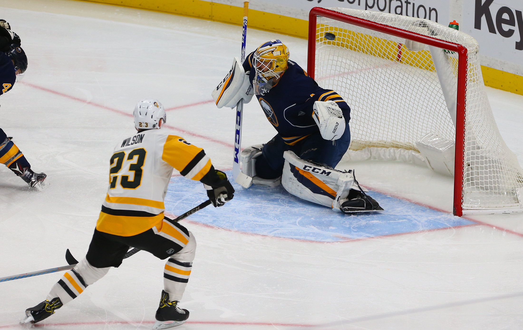 The Pittsburgh Penguins fired 47 shots on Sabres goalie Anders Nilsson. (John Hickey/Buffalo News)