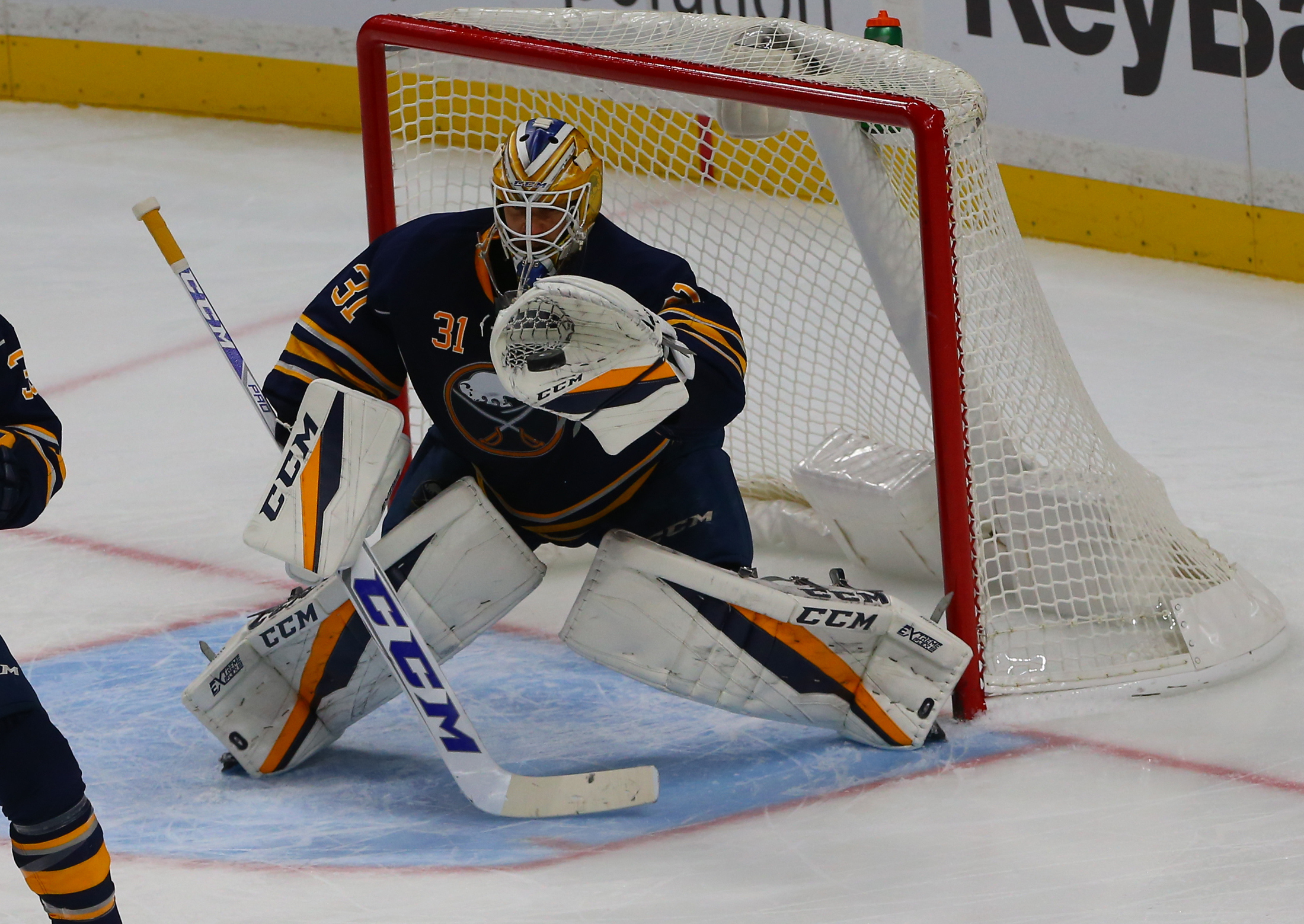 Anders Nilsson added to an impressive date in Sabres goaltending history. (John Hickey/Buffalo News)