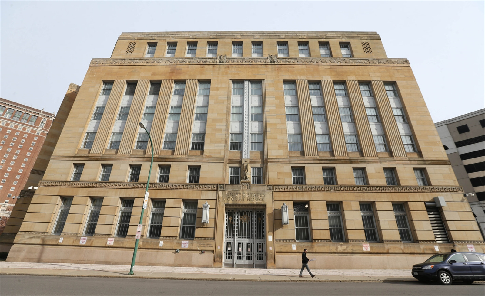 The Dillon Courthouse as seen from Niagara Street. (Sharon Cantillon/Buffalo News)