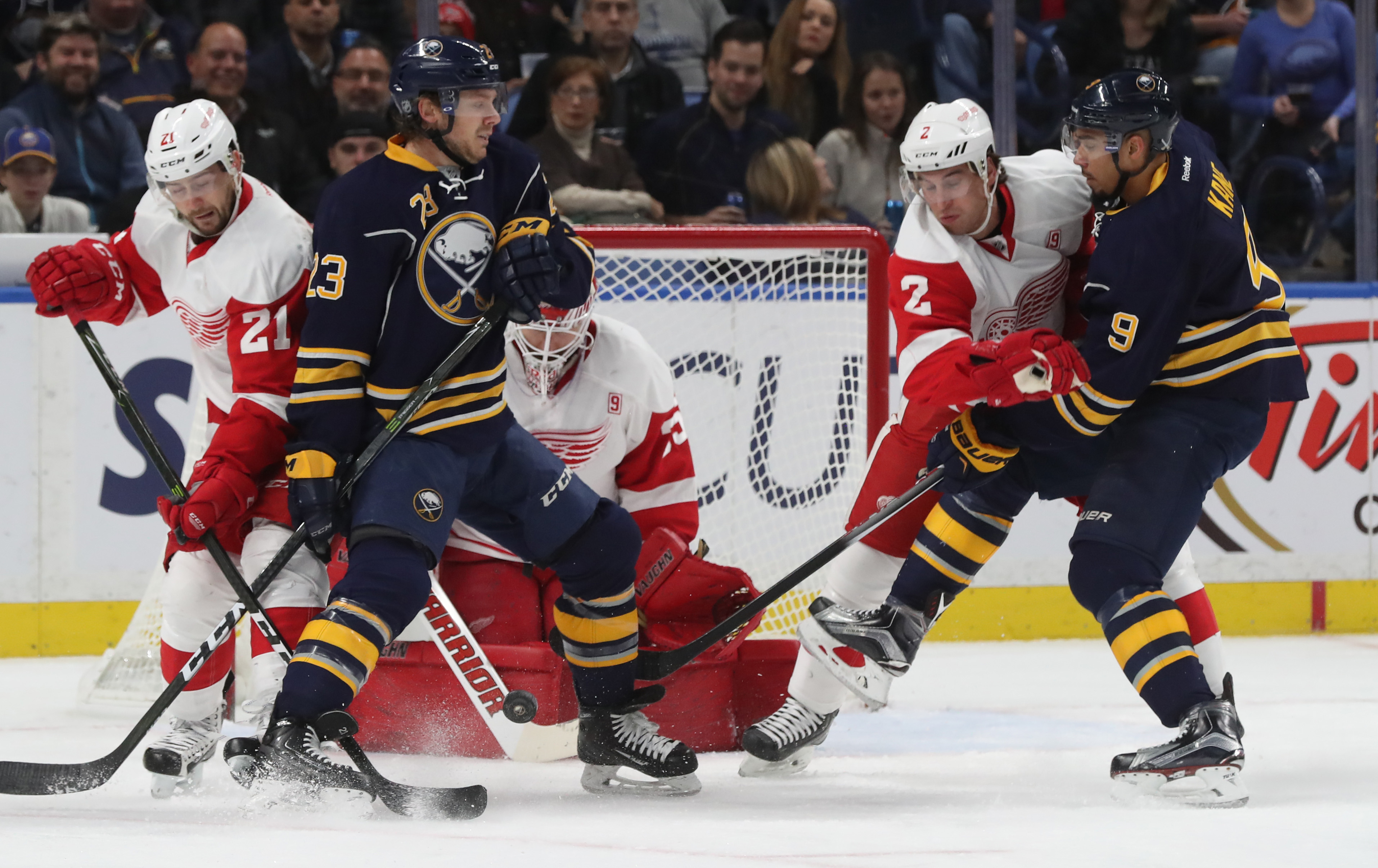 The Detroit Red Wings earned a 2-1 shootout win over the Sabres.  (James P. McCoy/Buffalo News)