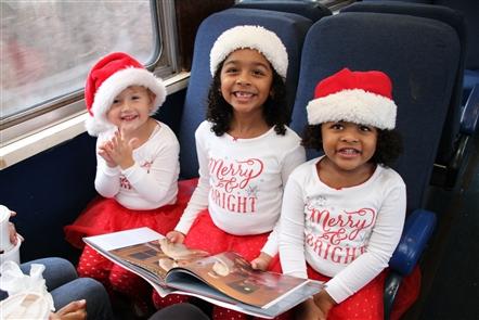 Smiles at Medina Railroad Polar Express