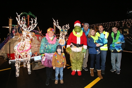Smiles at the Lancaster Christmasville Fire Truck Parade