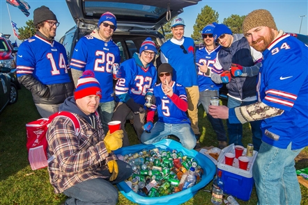 Smiles at Bills vs. Jaguars tailgate