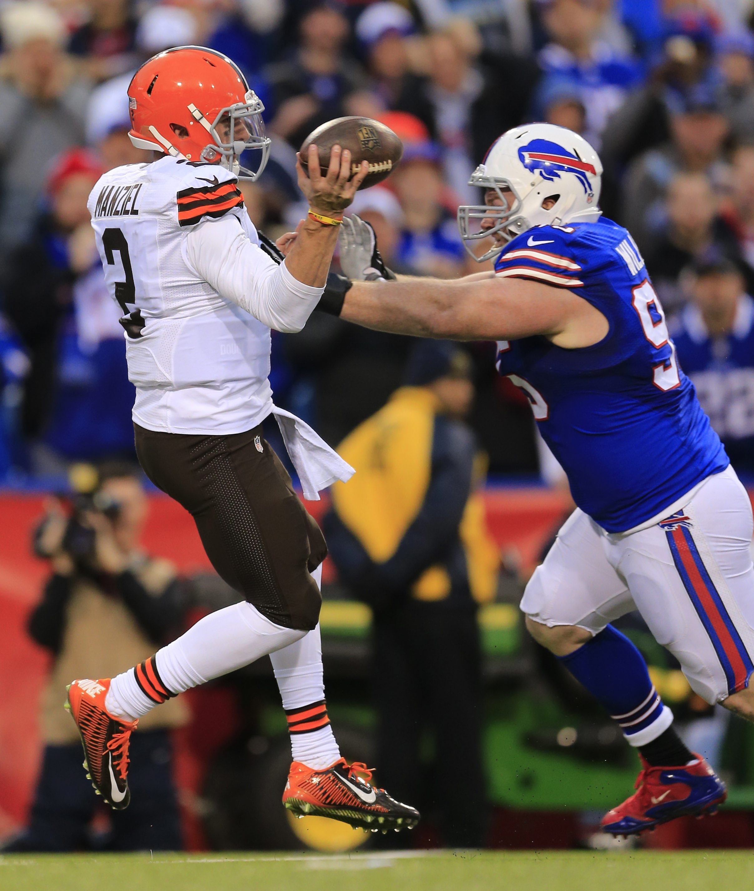Williams has outlasted many highly rated talents, like quarterback Johnny Manziel. .(Harry Scull Jr./Buffalo News)