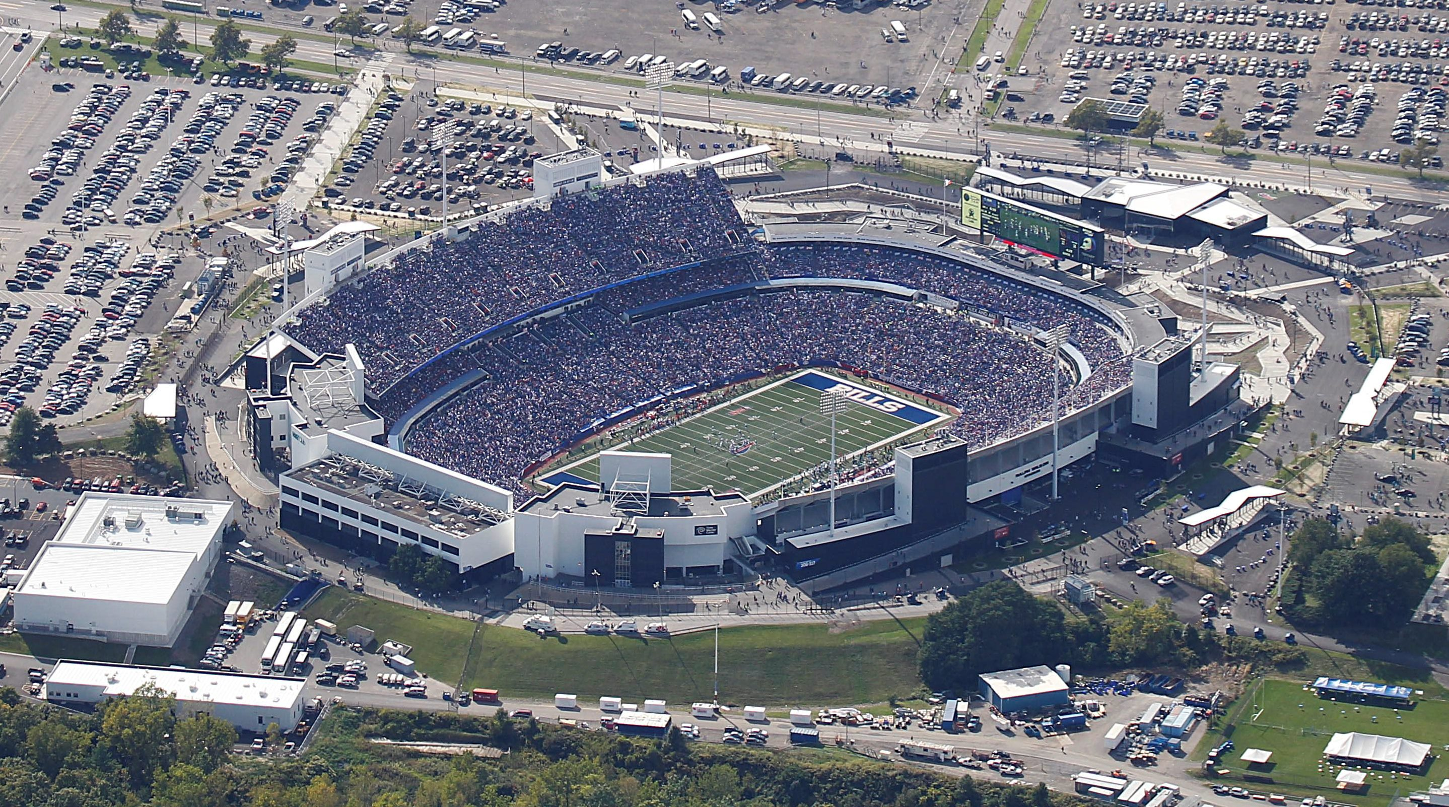 An aerial view of New Era Field. (News file photo)